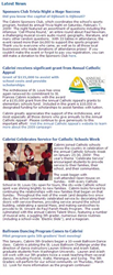 A screenshot of the Main News feed from CabriniAcademy.org