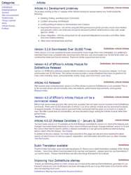 A screenshop of Efficion's All Articles page which allows you to filter by Category