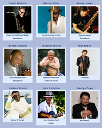 A custom list template that displays an artist gallery for TheSmoothJazzCruise.com. Clicking on the artist image or name takes you to the Artist Details.
