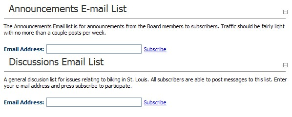 Mailing List Subscribe- Sample usage