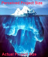 The perceived project size is just the tip of the iceberg